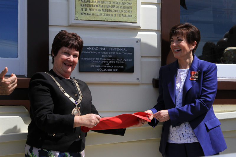 Governor General Patsy Reddy and Mayor Viv Napier